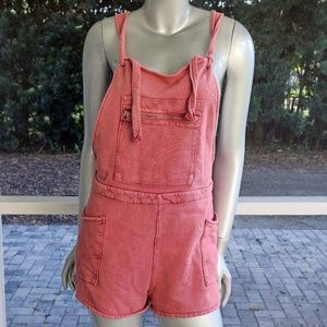Don't Ask Why American Eagle Rose Overalls Shorts